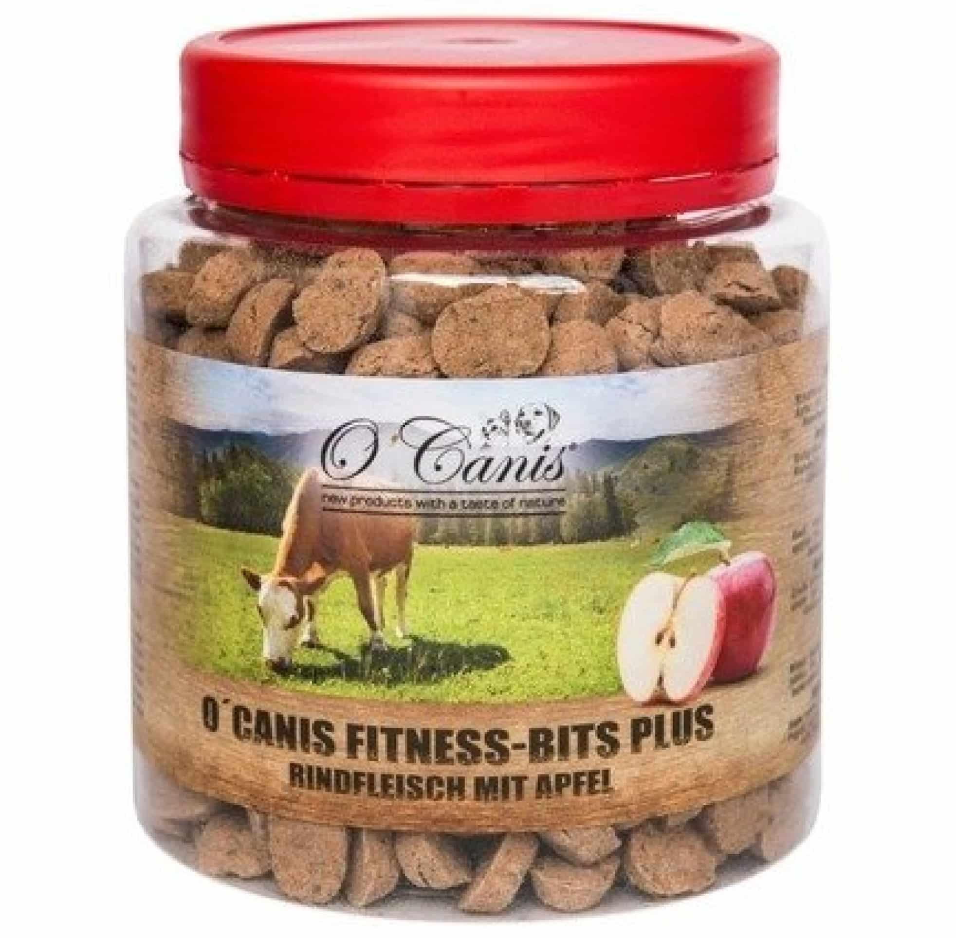 O'Canis Fitness-Bits PLUS wołowina z jabłkiem 300g przysmak trenerski dla psa